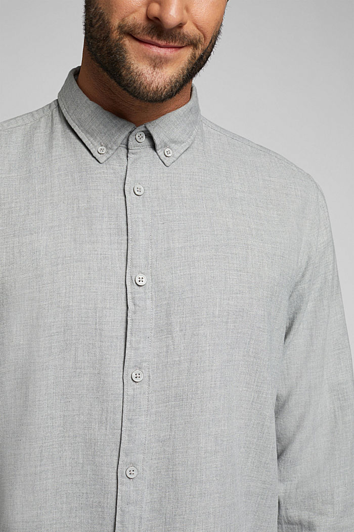 Flannel shirt made of 100% organic cotton, LIGHT GREY, detail image number 2