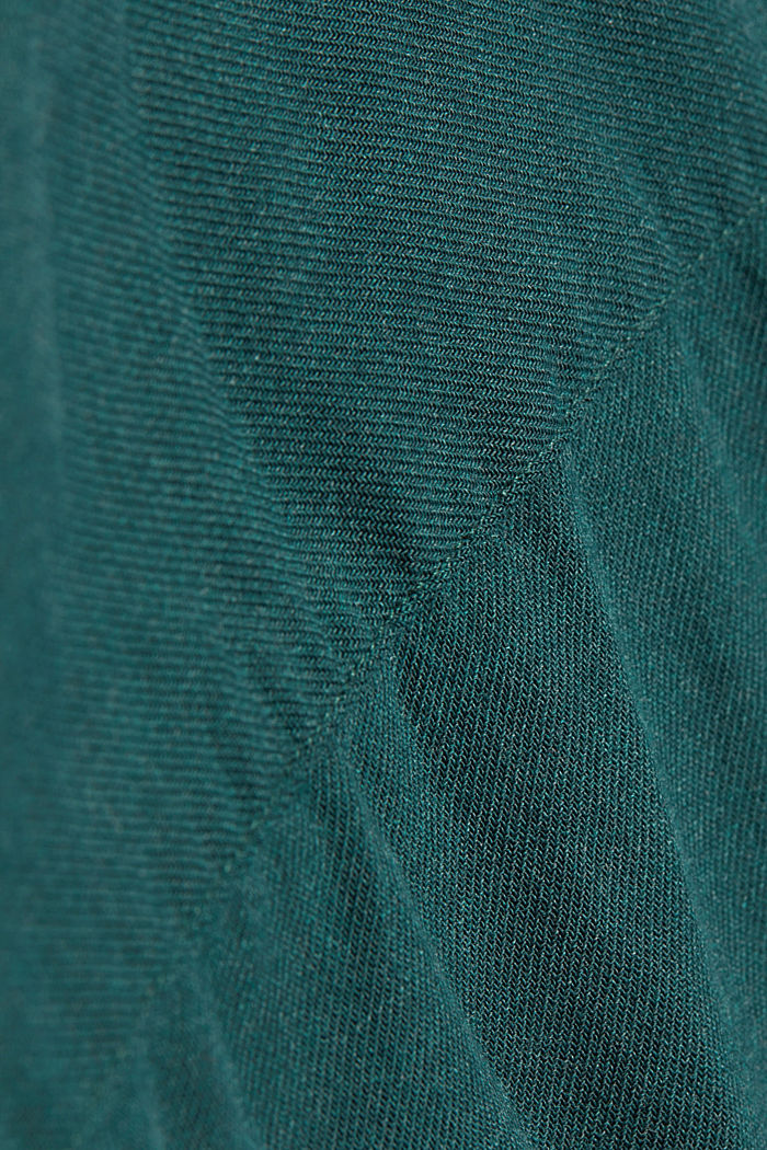Flannel shirt made of 100% organic cotton, DARK TEAL GREEN, detail image number 4