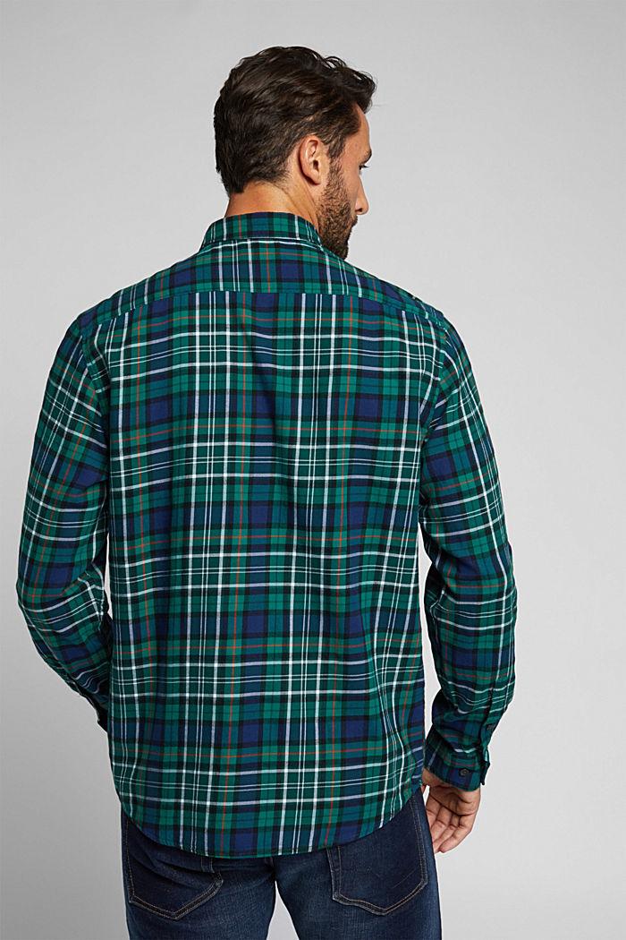 Kariertes Flanell-Hemd aus Bio-Baumwolle, DARK TEAL GREEN, detail image number 3