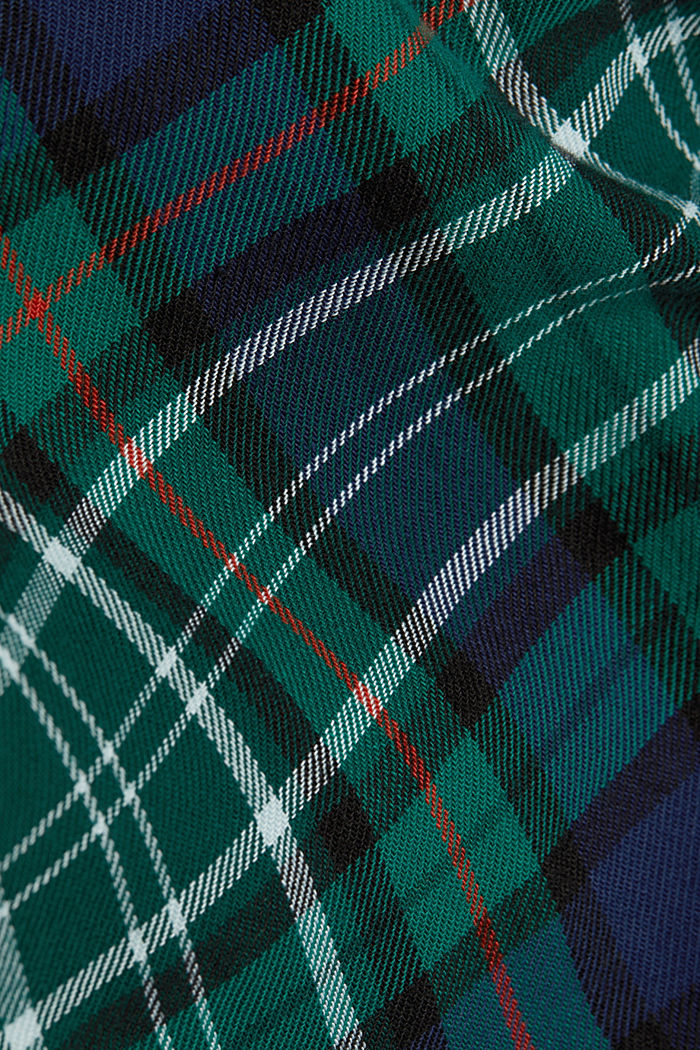 Check flannel shirt made of organic cotton, DARK TEAL GREEN, detail image number 4