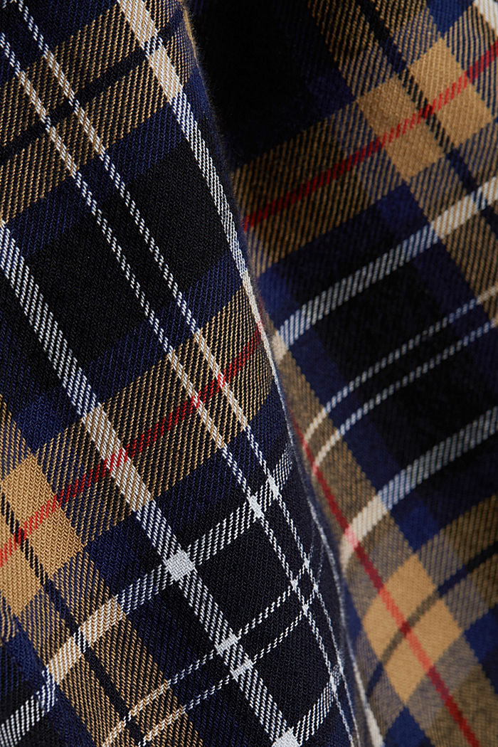 Check flannel shirt made of organic cotton, NAVY, detail image number 4