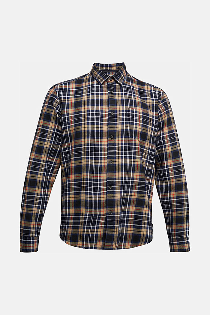 Check flannel shirt made of organic cotton