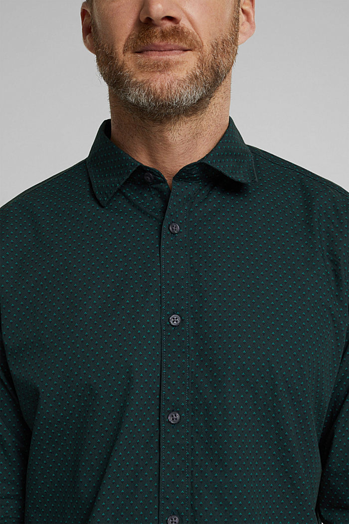 Print shirt made of 100% organic, DARK TEAL GREEN, detail image number 2