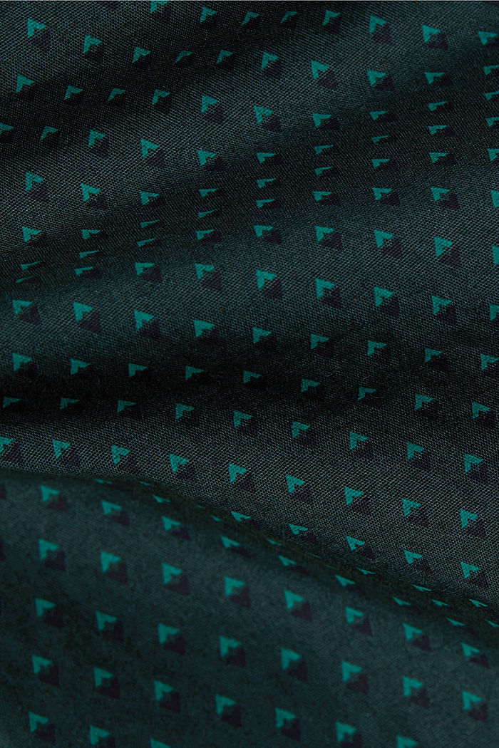 Print shirt made of 100% organic, DARK TEAL GREEN, detail image number 4
