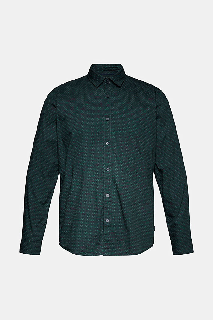 Print shirt made of 100% organic, DARK TEAL GREEN, detail image number 5