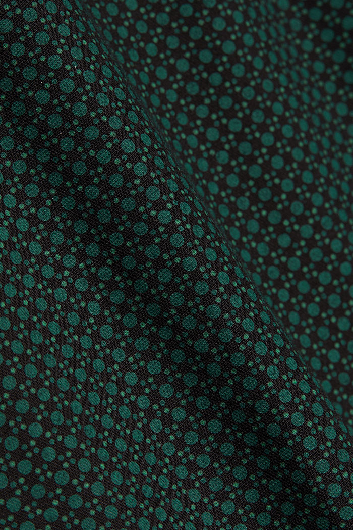 Shirt with a minimalist print, 100% organic cotton, DARK TEAL GREEN, detail image number 4