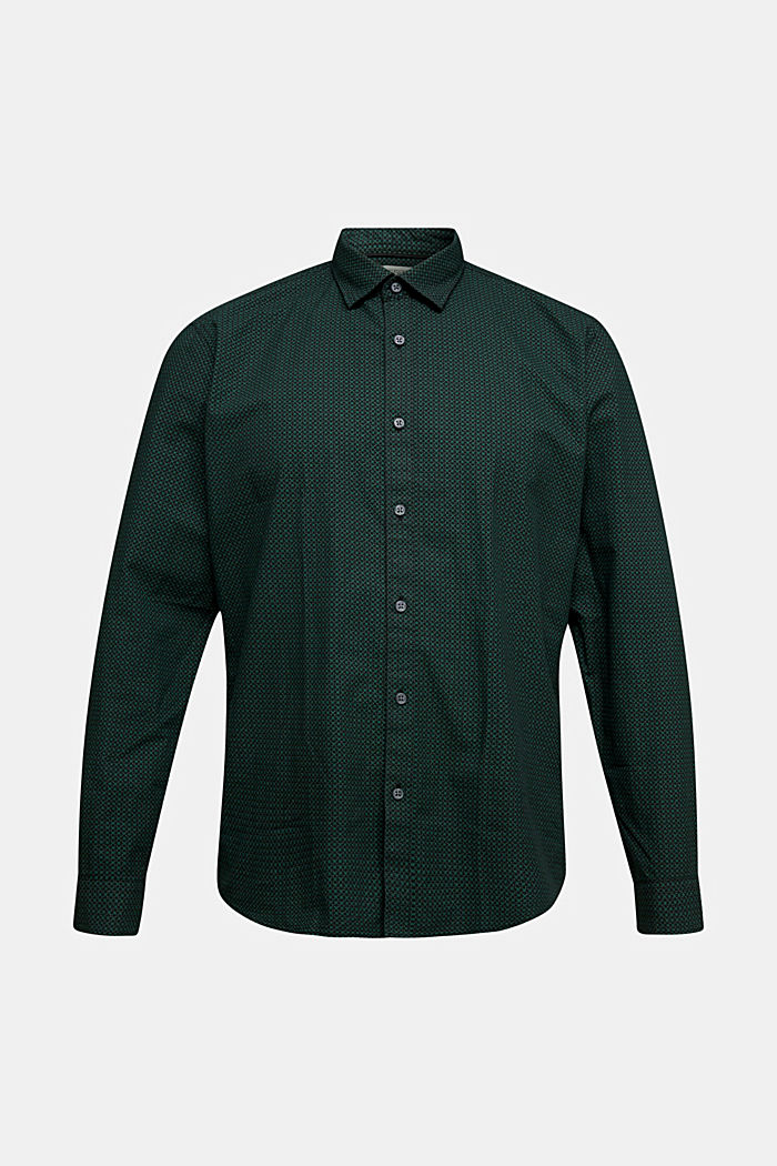 Shirt with a minimalist print, 100% organic cotton, DARK TEAL GREEN, detail image number 5