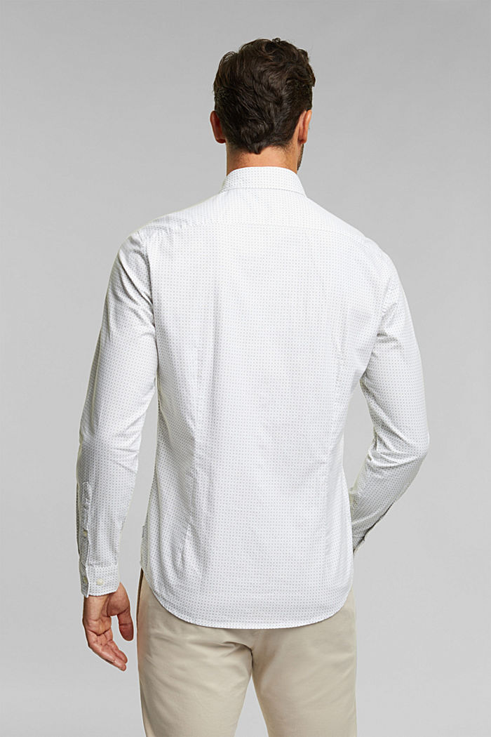 Shirt with a minimalist print, 100% organic cotton, WHITE, detail image number 3