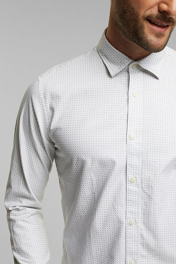 Shirt with a minimalist print, 100% organic cotton, WHITE, detail image number 2