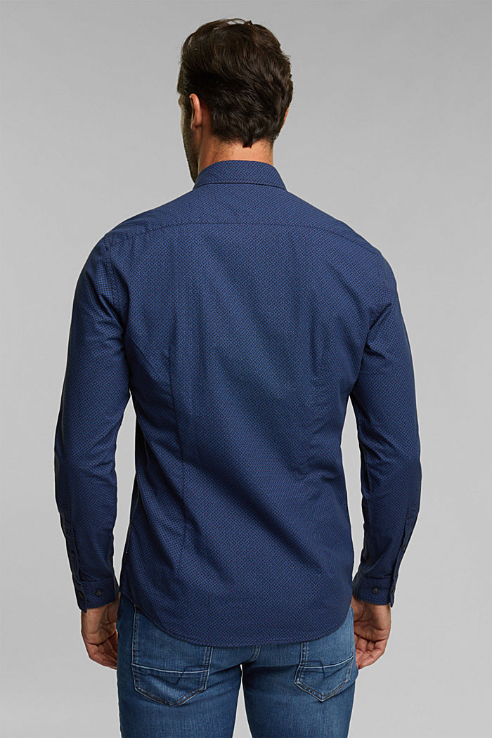 Shirt with a minimalist print, 100% organic cotton, NAVY, detail image number 3
