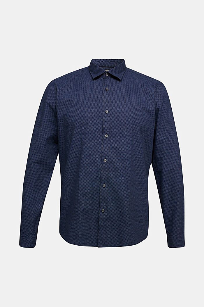 Shirt with a minimalist print, 100% organic cotton, NAVY, detail image number 6