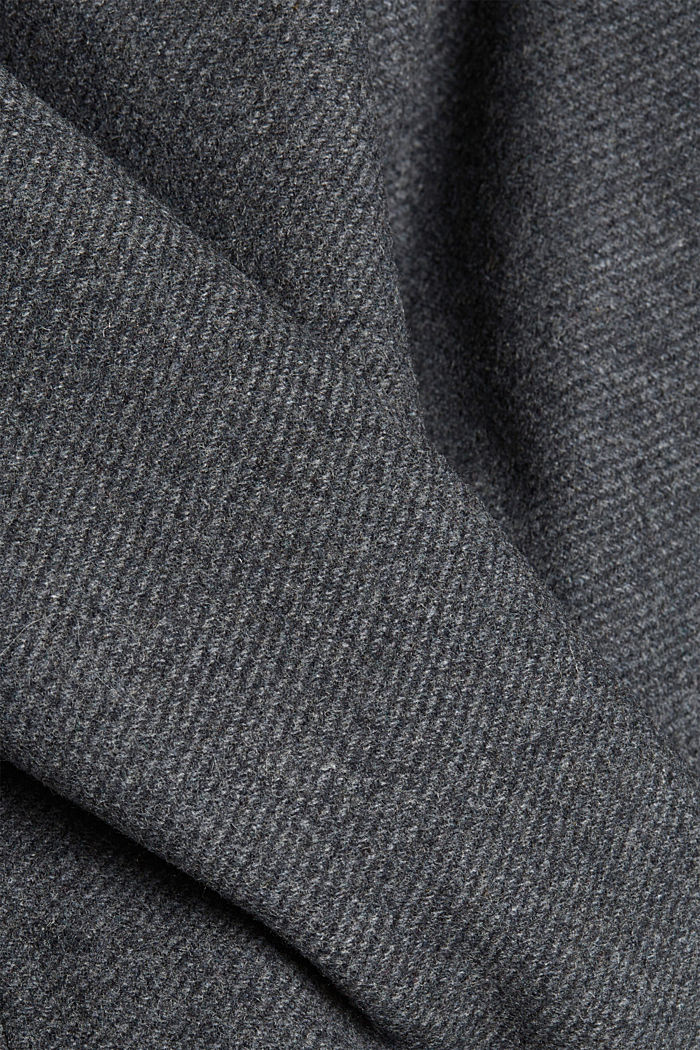 Padded outdoor jacket made of blended wool, GREY, detail image number 4