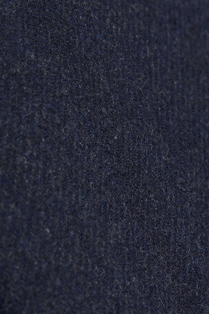 Blended wool coat with a two-in-one look, DARK BLUE, detail image number 4