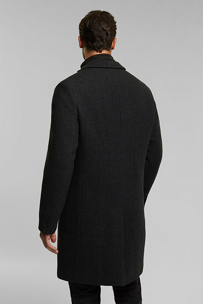 Wool blend: 2-In-1 coat, ANTHRACITE, detail image number 3