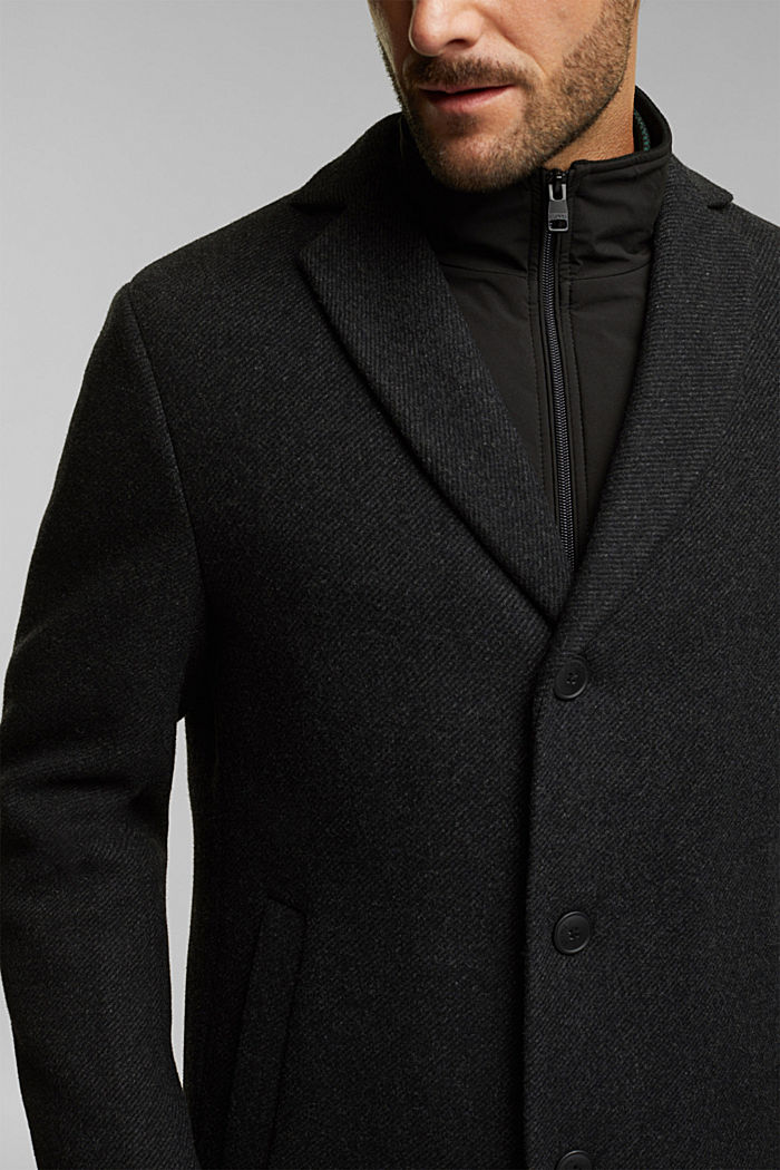 Wool blend: 2-In-1 coat, ANTHRACITE, detail image number 2