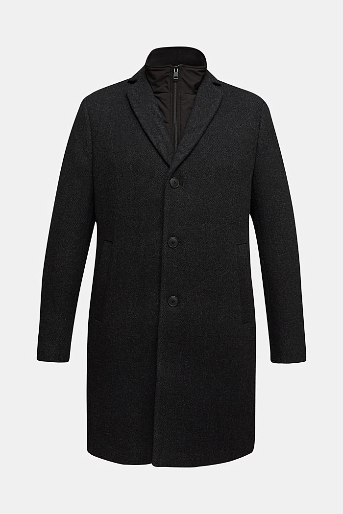 Wool blend: 2-In-1 coat, ANTHRACITE, detail image number 5