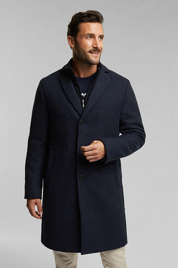 Wool blend: 2-In-1 coat