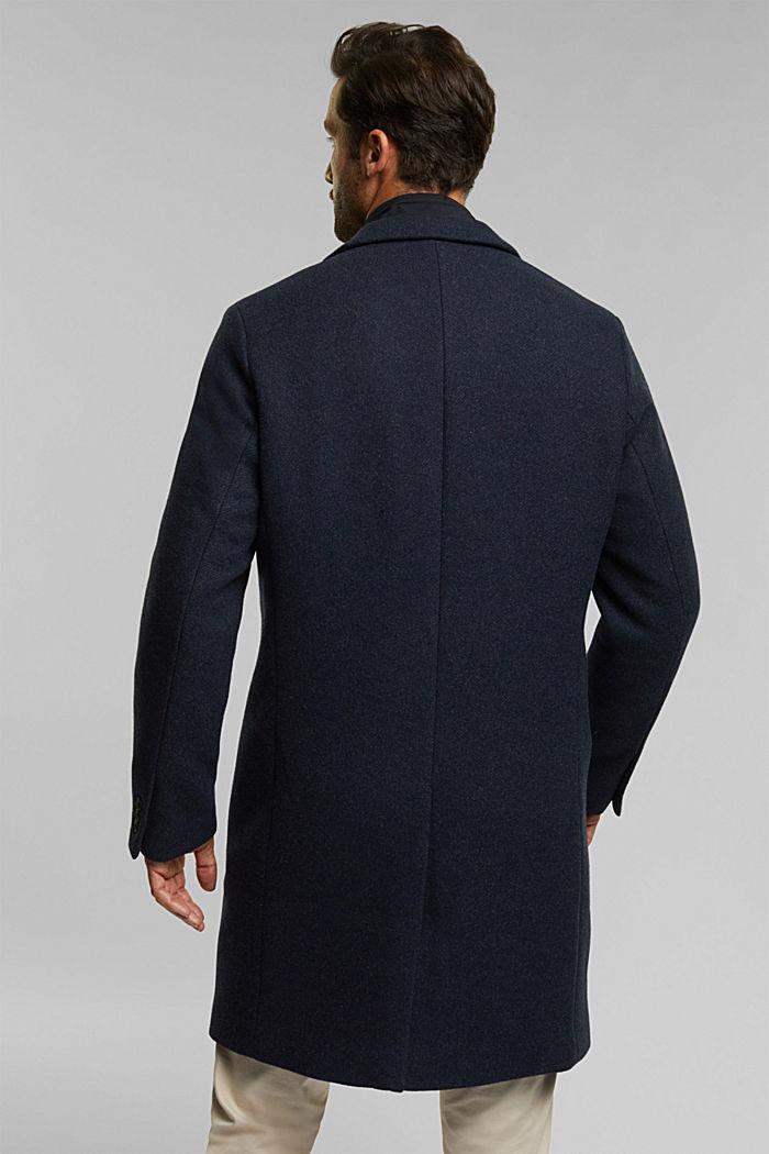 Wool blend: 2-In-1 coat, DARK BLUE, detail image number 3
