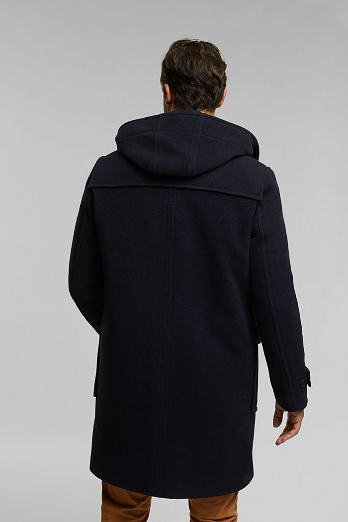 Made of blended wool: padded duffle coat, NAVY, detail image number 3
