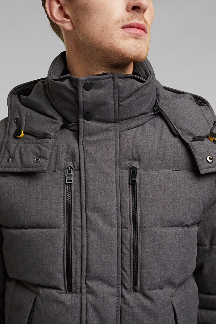 Quilted jacket with 3M™ Thinsulate™ filling, ANTHRACITE, detail image number 2