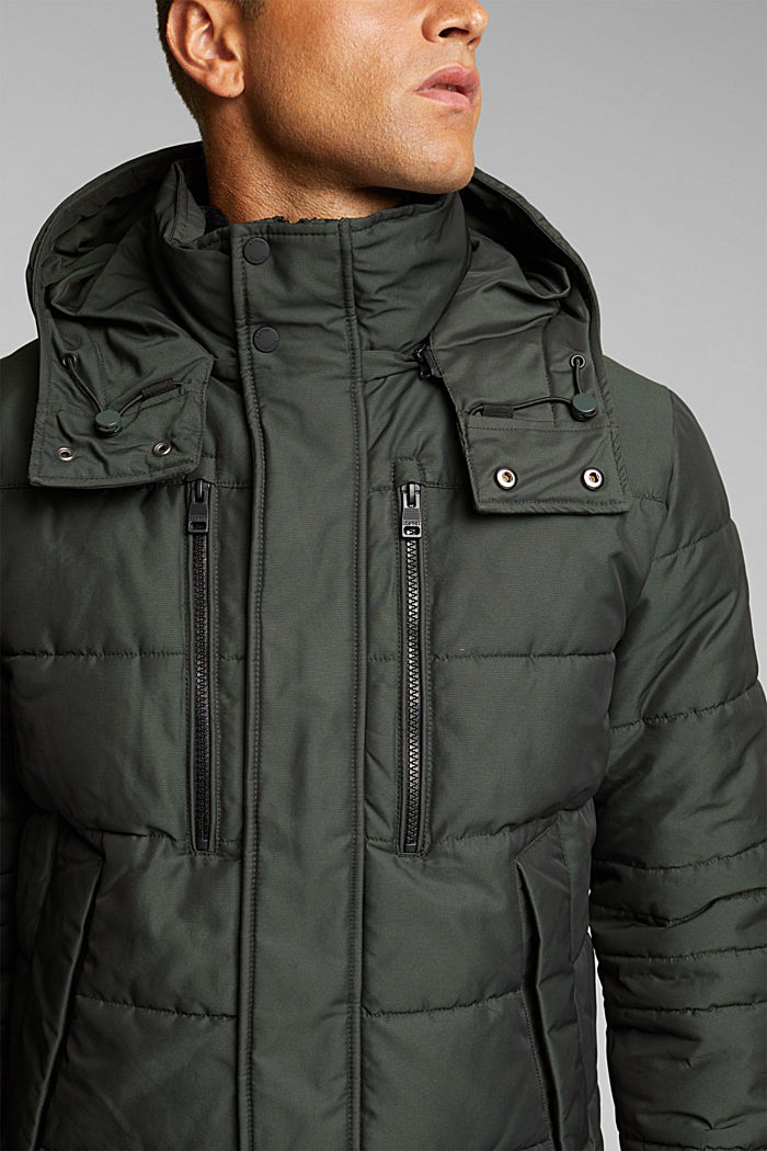 Jackets outdoor woven, DARK GREEN, detail image number 2