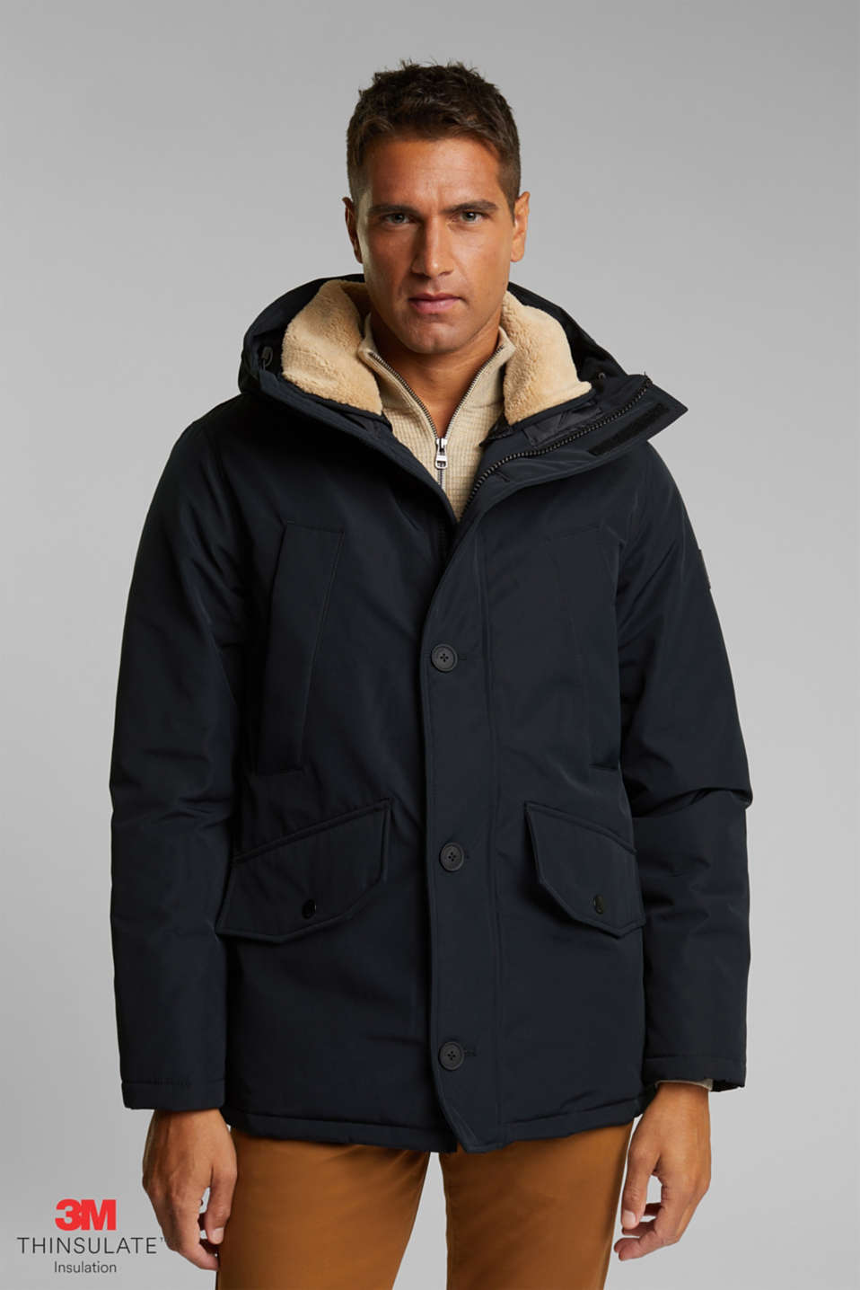 Esprit - Gerecycled: polar-parka, 3M™ Thinsulate™-vulling