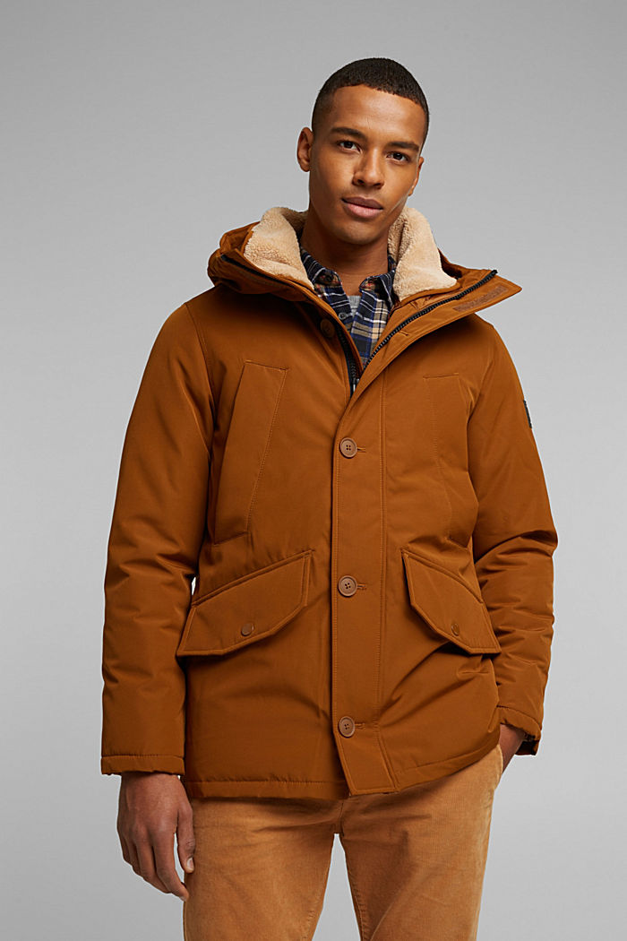 Recycled: Polar parka with 3M™ Thinsulate™ filling, TOFFEE, detail image number 0