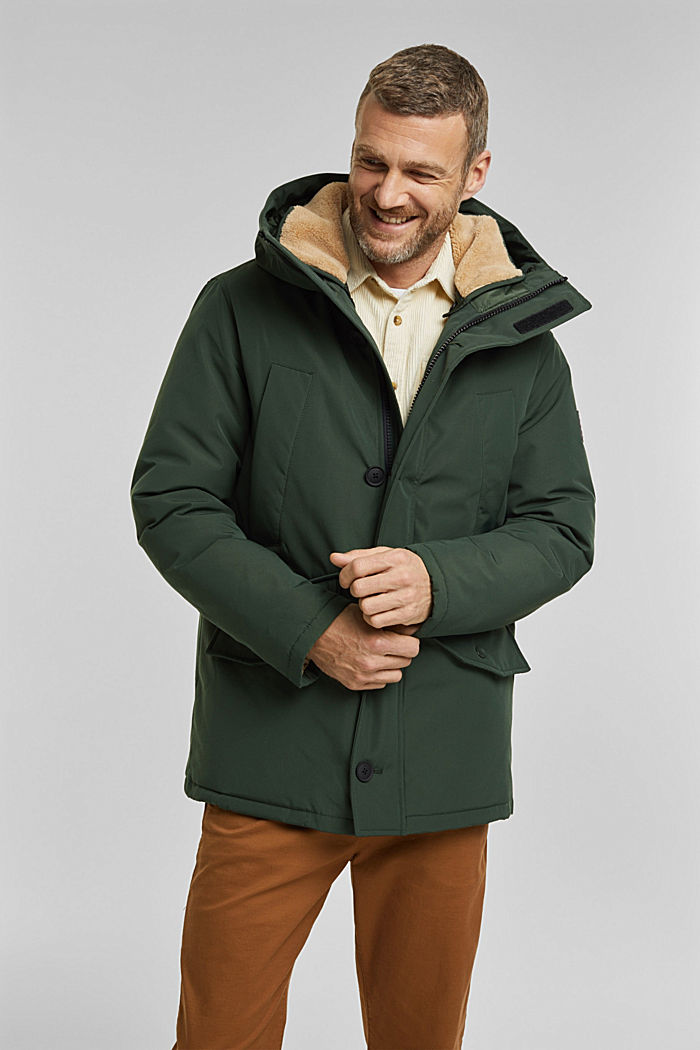 Recycled: Polar parka with 3M™ Thinsulate™ filling, DARK TEAL GREEN, detail image number 0