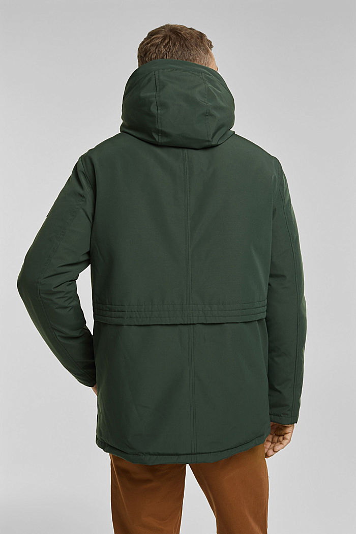 Recycled: Polar parka with 3M™ Thinsulate™ filling, DARK TEAL GREEN, detail image number 3