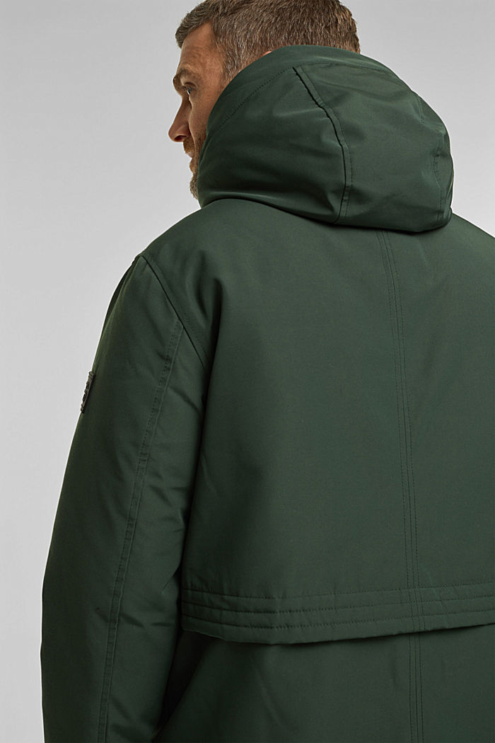 Recycled: Polar parka with 3M™ Thinsulate™ filling, DARK TEAL GREEN, detail image number 2