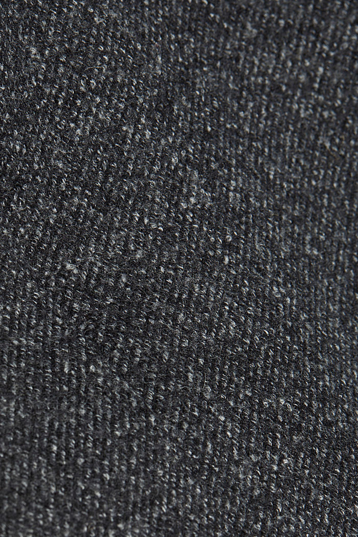 Wool blend: padded coat in a 2-in-1 look, ANTHRACITE, detail image number 4