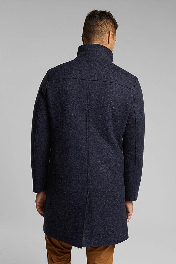 Wool blend: padded coat in a 2-in-1 look, DARK BLUE, detail image number 3