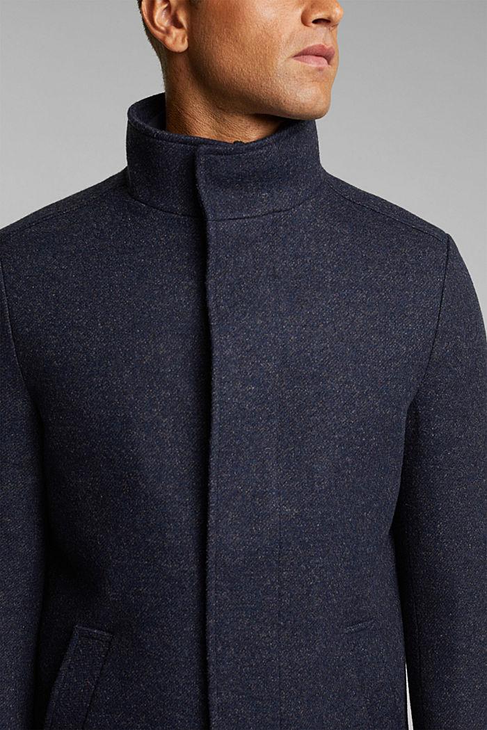 Wool blend: padded coat in a 2-in-1 look, DARK BLUE, detail image number 2
