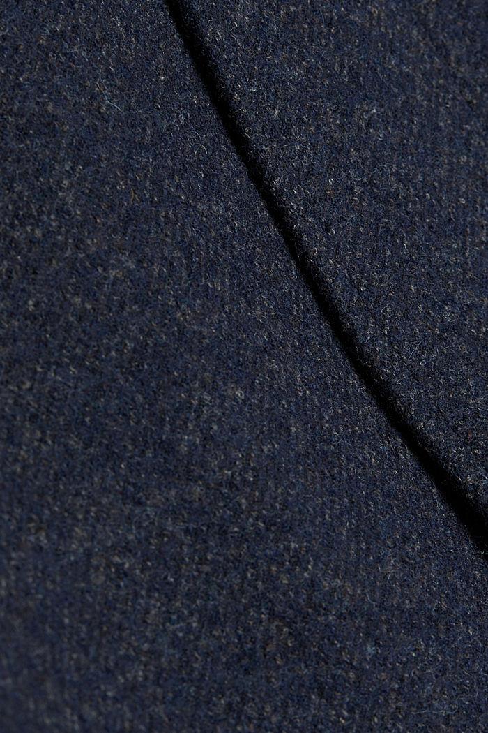 Wool blend: padded coat in a 2-in-1 look, DARK BLUE, detail image number 4
