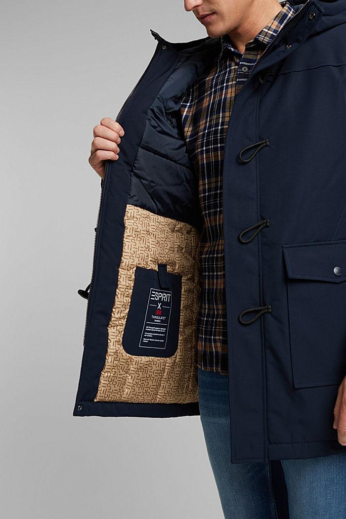 Recycelt: Jacke im Duffle-Stil, 3M™ Thinsulate™, DARK BLUE, detail image number 7