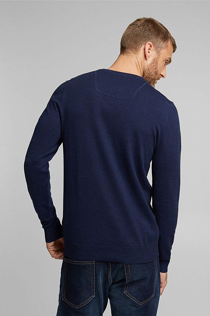 Cashmere blend: crewneck jumper, INK, detail image number 3