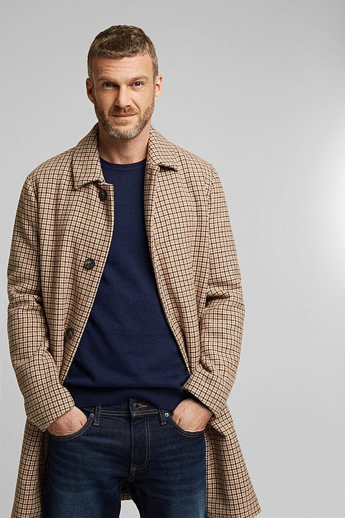 Cashmere blend: crewneck jumper, INK, detail image number 7