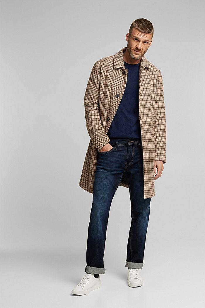 Cashmere blend: crewneck jumper, INK, detail image number 1