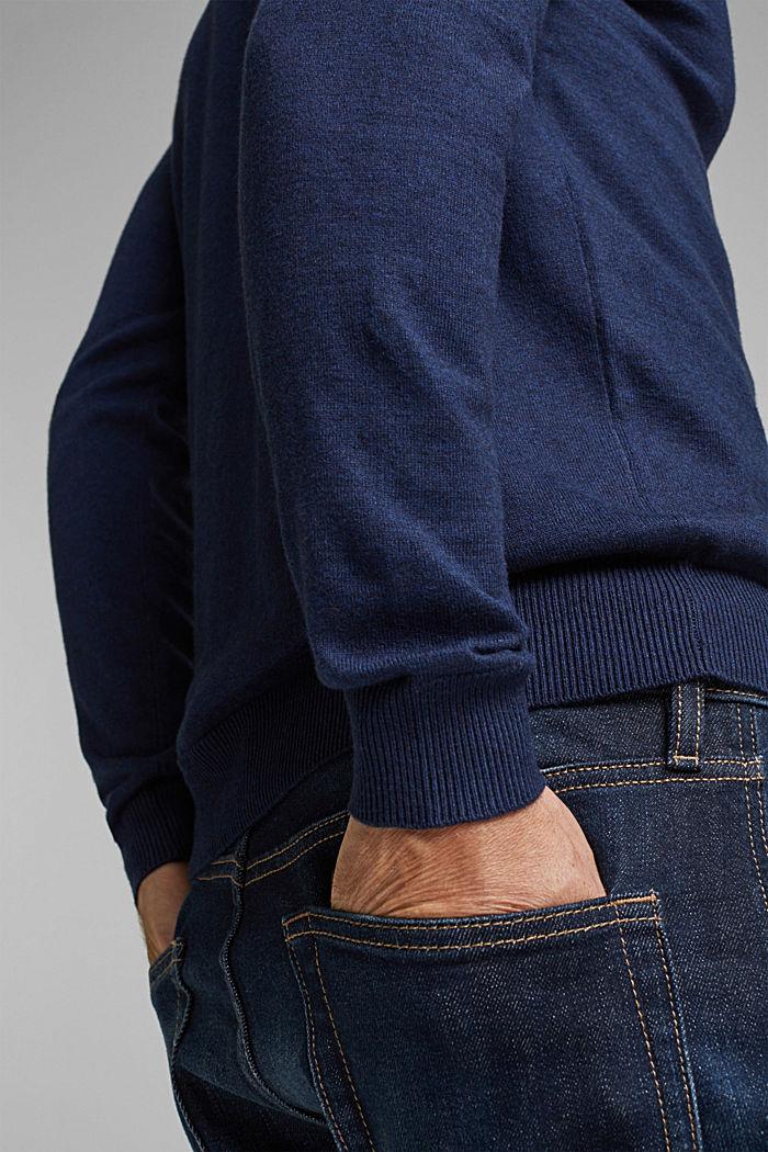 Cashmere blend: crewneck jumper, INK, detail image number 2