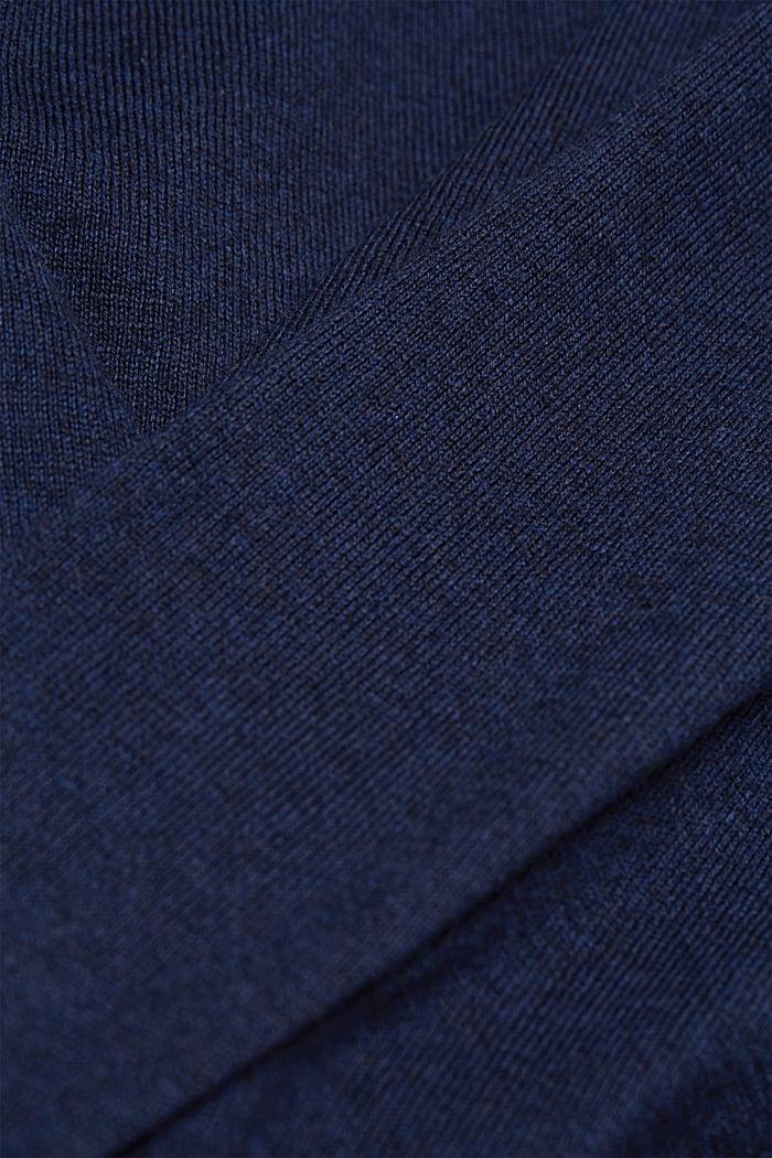 Cashmere blend: crewneck jumper, INK, detail image number 4