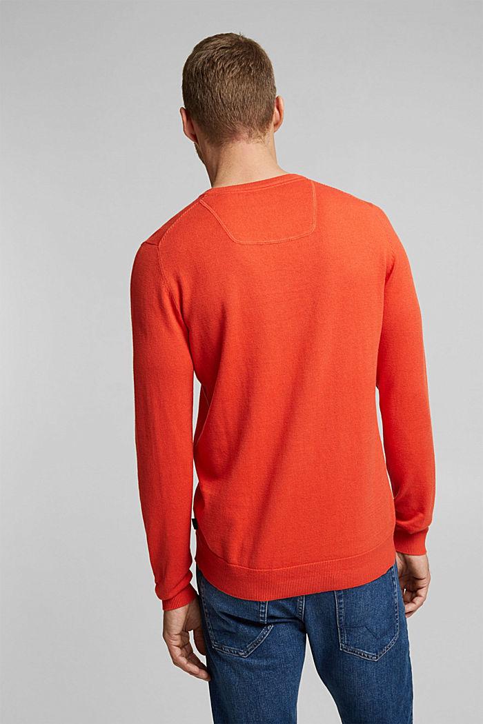 Cashmere blend: crewneck jumper, BURNT ORANGE, detail image number 3