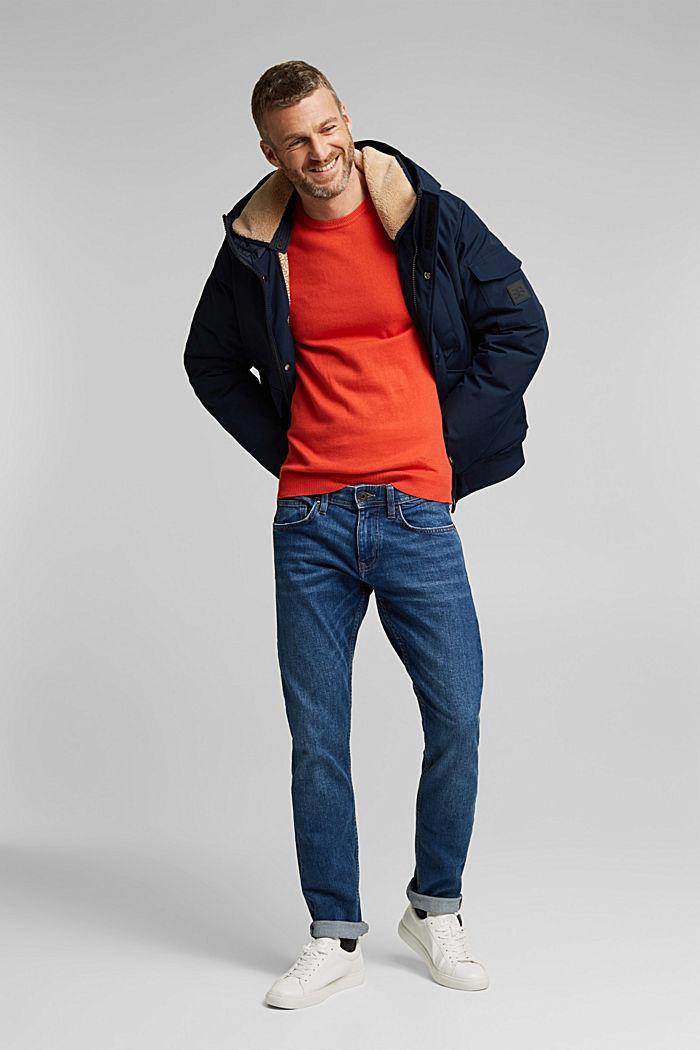 Cashmere blend: crewneck jumper, BURNT ORANGE, detail image number 1