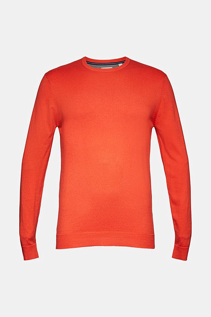 Cashmere blend: crewneck jumper