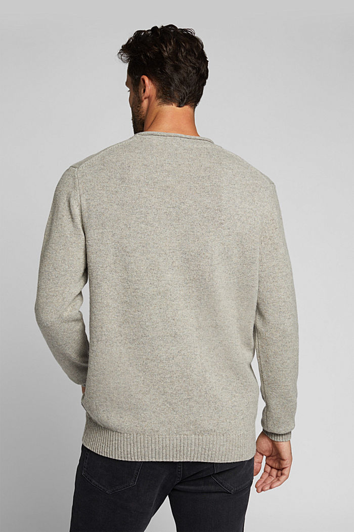 Recycelter Woll-Mix: melierter Pullover, LIGHT BEIGE, detail image number 3