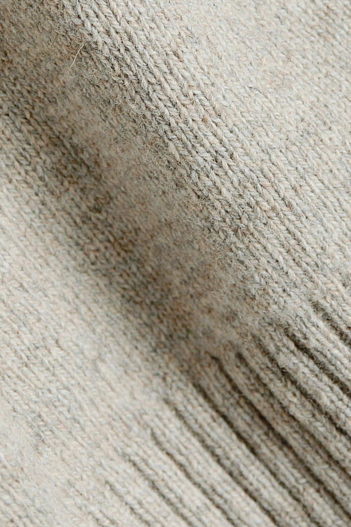 Recycelter Woll-Mix: melierter Pullover, LIGHT BEIGE, detail image number 4