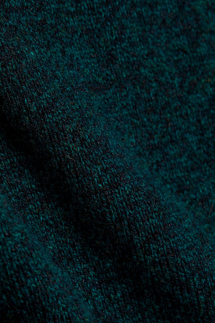 Recycelter Woll-Mix: melierter Pullover, BOTTLE GREEN, detail image number 4