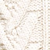 Wool/organic cotton: Cable knit jumper, OFF WHITE, swatch