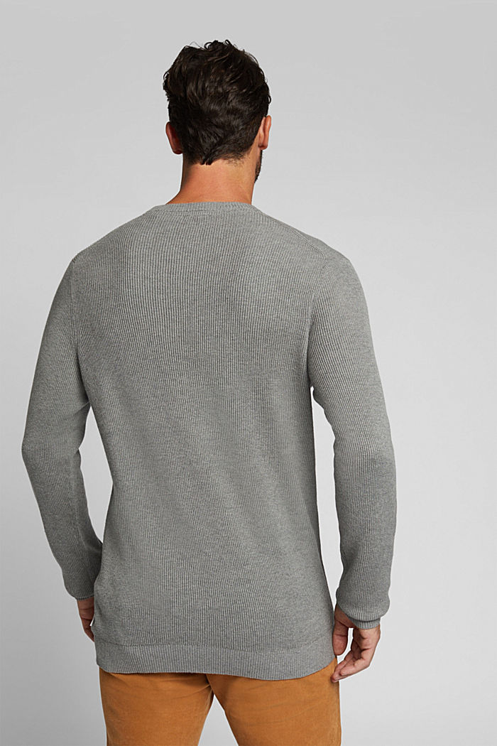 Mit Kaschmir: Rippstrick-Pullover, MEDIUM GREY, detail image number 3