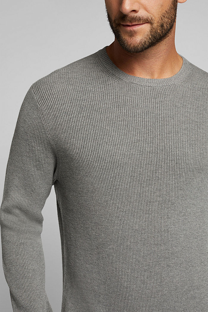 Mit Kaschmir: Rippstrick-Pullover, MEDIUM GREY, detail image number 2