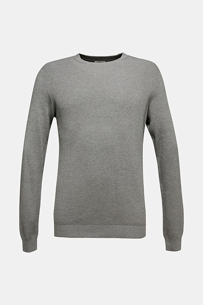 Mit Kaschmir: Rippstrick-Pullover, MEDIUM GREY, detail image number 5